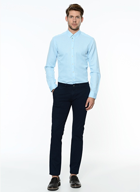 George Hogg Slim Fit Chino Pantolon Lacivert
